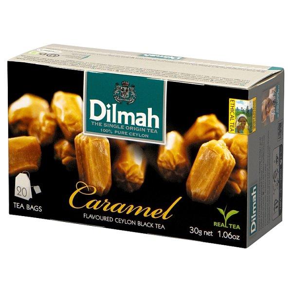 Dilmah Caramel Cejlońska czarna herbata 30 g (20 x 1,5 g)