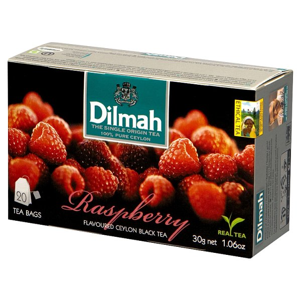 Dilmah Raspberry Cejlońska czarna herbata 30 g (20 x 1,5 g)