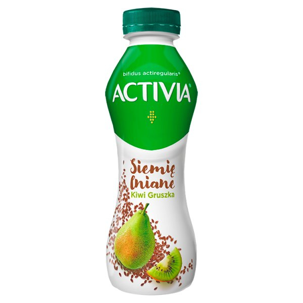 Activia Jogurt siemię lniane gruszka kiwi 280 g