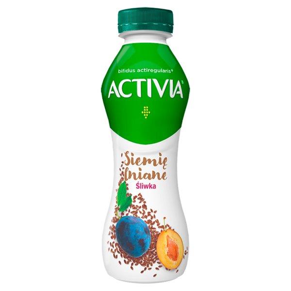 Activia Jogurt siemię lniane śliwka 280 g