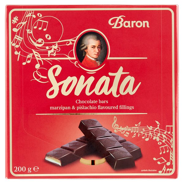 Baron Sonata Czekolada z nadzieniem o smaku marcepanowym i pistacjowym 200 g