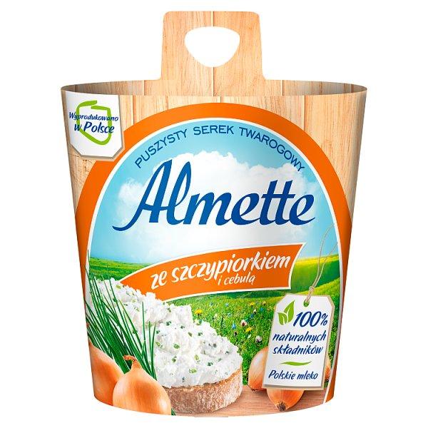 Almette Puszysty serek twarogowy ze szczypiorkiem i cebulą 150 g