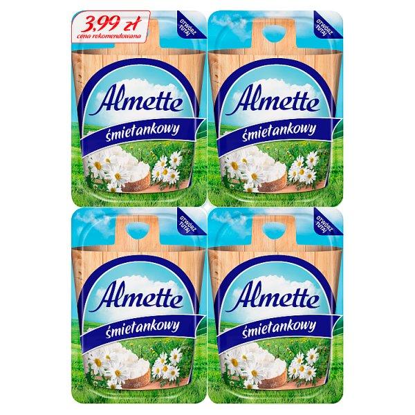 Almette Puszysty serek twarogowy śmietankowy 120 g (4 x 30 g)