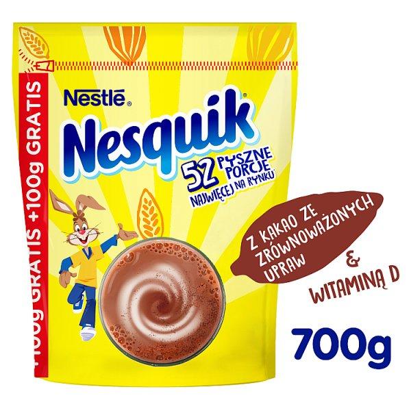 Nesquik Rozpuszczalny napój kakaowy z dodatkiem witamin 700 g