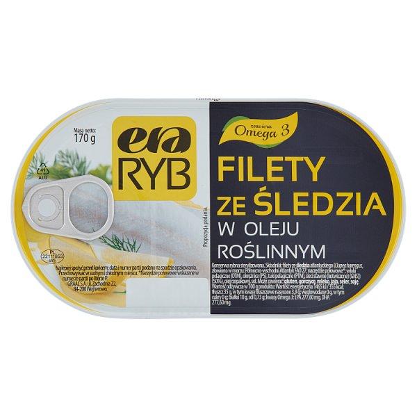 Era Ryb Filety ze śledzia w oleju roślinnym 170 g