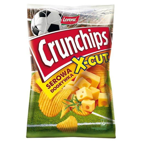 Crunchips X-Cut Chipsy ziemniaczane o smaku serowa dogrywka 140 g