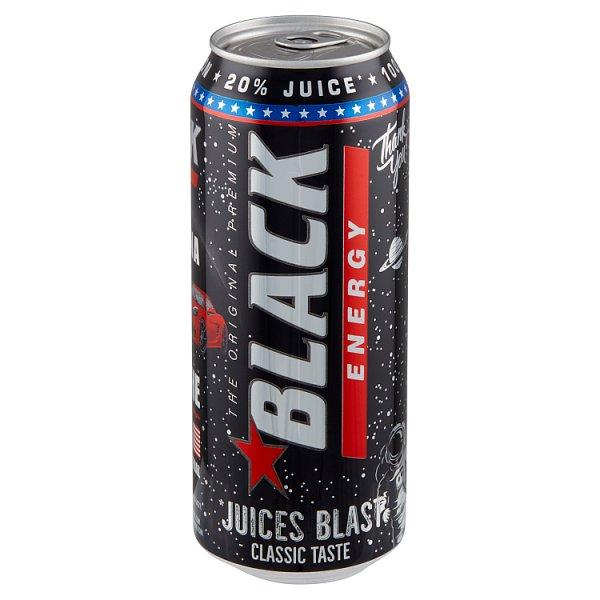Black Energy Juices Blast Gazowany napój energetyzujący 500 ml