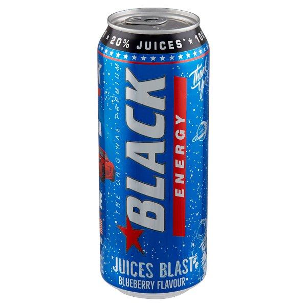 Black Energy Juices Blast Gazowany napój energetyzujący o smaku jagodowym 500 ml