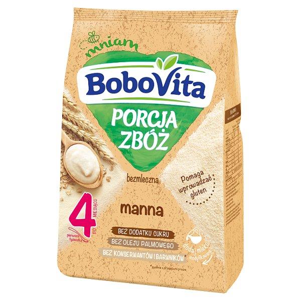 BoboVita Porcja Zbóż Kaszka bezmleczna manna po 4 miesiącu 170 g