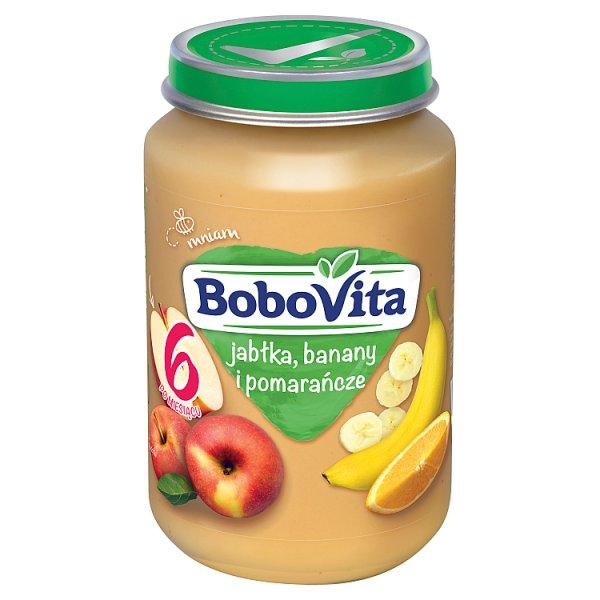 BoboVita Jabłka banany i pomarańcze po 6 miesiącu 190 g