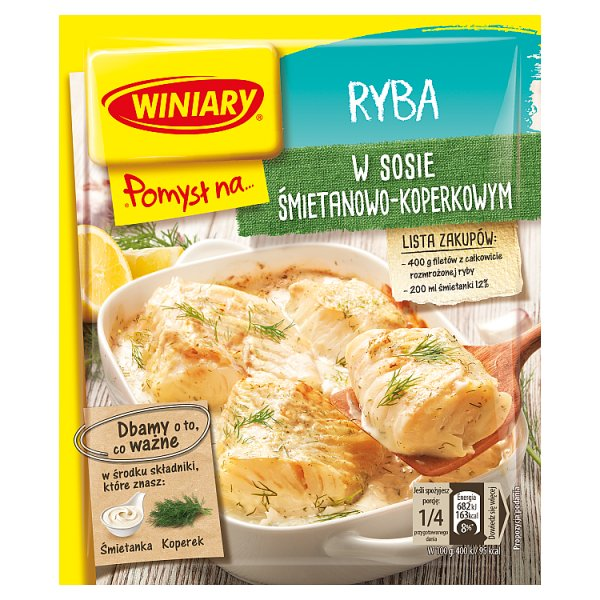 Winiary Pomysł na... Rybę w sosie śmietanowo-koperkowym 32 g