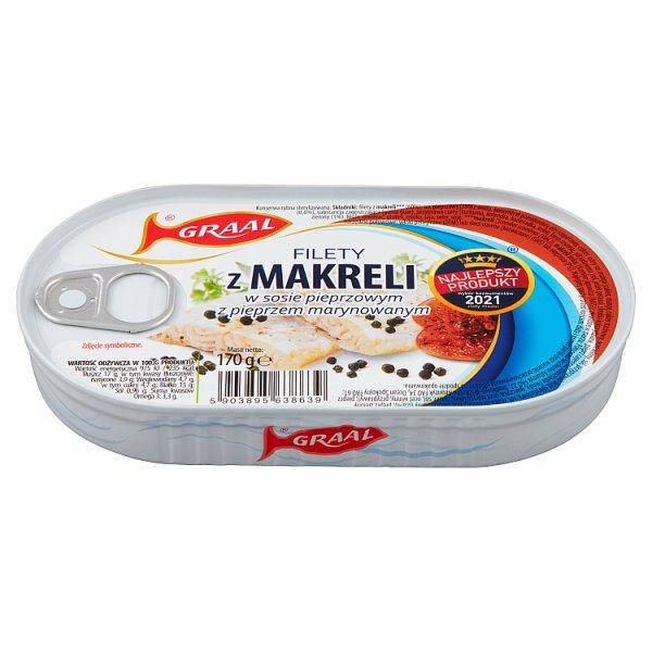 Graal Filety z makreli w sosie pieprzowym z pieprzem marynowanym 170 g