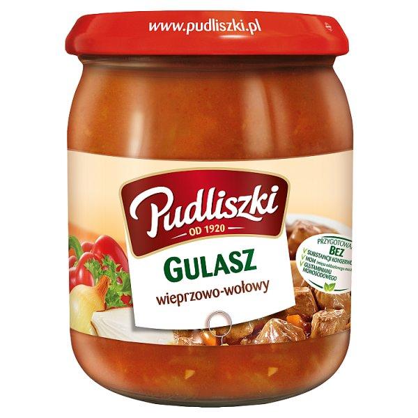 Pudliszki Gulasz wieprzowo-wołowy 500 g