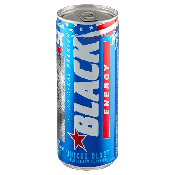 Black Energy Juices Blast Gazowany napój energetyzujący o smaku jagodowym 250 ml