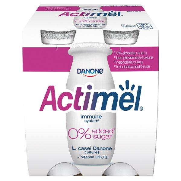 Actimel Mleko fermentowane o smaku naturalnym 400 g (4 x 100 g)