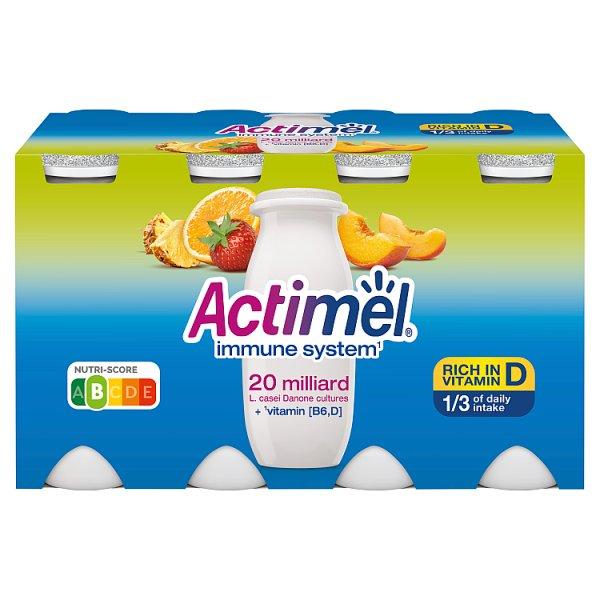 Actimel Mleko fermentowane o smaku wieloowocowym 800 g (8 x 100 g)