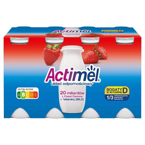 Actimel Mleko fermentowane o smaku truskawkowym 800 g (8 x 100 g)