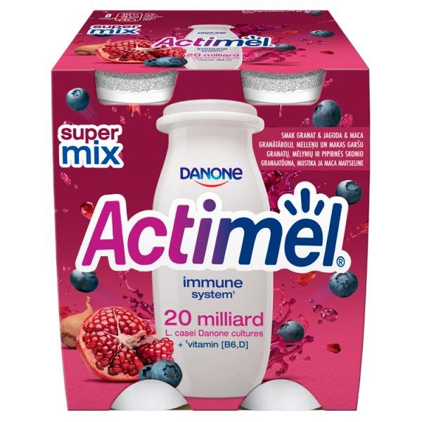 Actimel Mleko fermentowane o smaku granat-jagoda-maca 400 g (4 x 100 g)