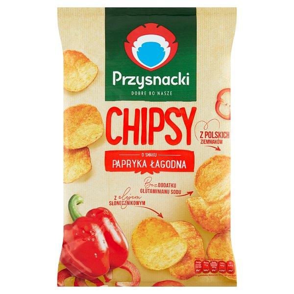Przysnacki Chipsy o smaku papryka łagodna 135 g