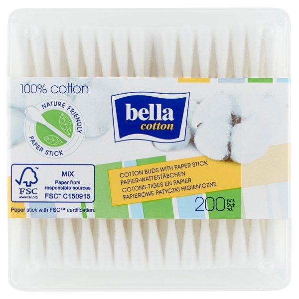 Bella Cotton Papierowe patyczki higieniczne 200 sztuk