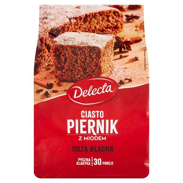 Delecta Duża Blacha Ciasto piernik z miodem mieszanka do wypieku ciasta 680 g
