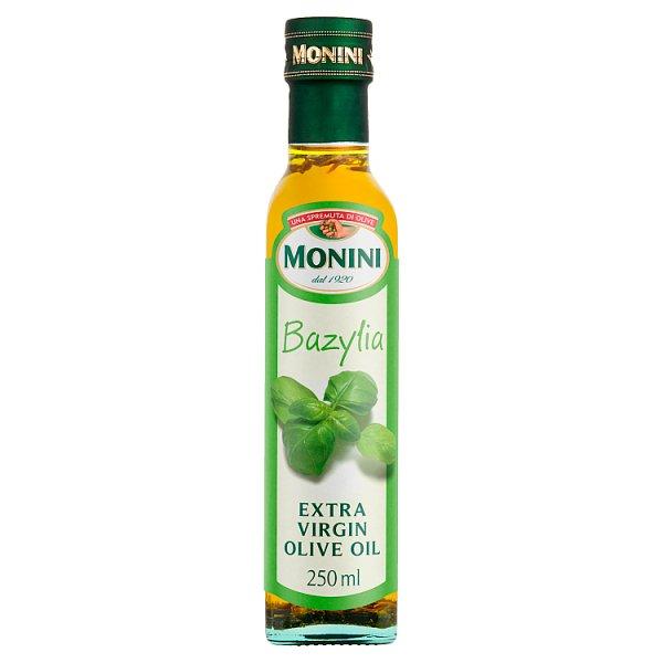 Monini Aromatyzowana oliwa z oliwek o smaku bazylii 250 ml