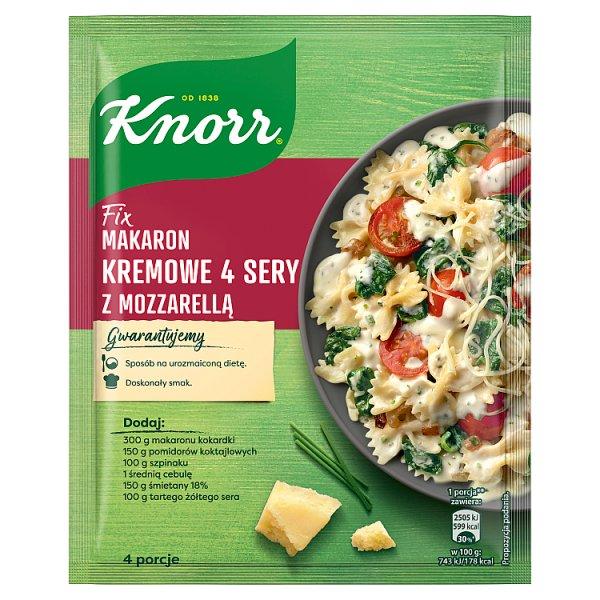 Knorr Fix makaron kremowe 4 sery z mozzarellą 45 g