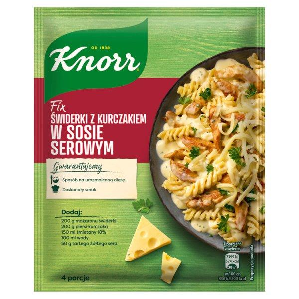 Knorr Fix Świderki z kurczakiem w sosie serowym 45 g