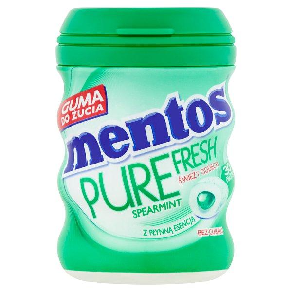 Mentos Pure Fresh Spearmint Guma do żucia bez cukru 60 g (30 sztuk)