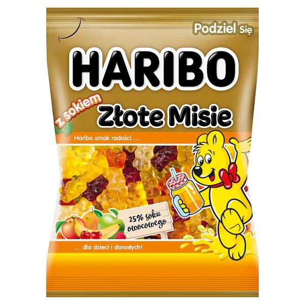 Haribo Złote Misie Żelki owocowe z sokiem 175 g