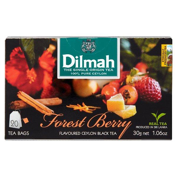Dilmah Forest Berry Cejlońska czarna herbata 30 g (20 x 1,5 g)