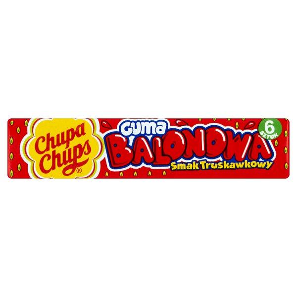 Chupa Chups Guma balonowa smak truskawkowy 27,6 g (6 sztuk)
