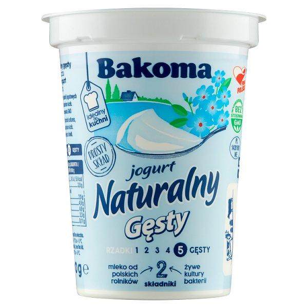 Bakoma Jogurt naturalny gęsty 390 g e