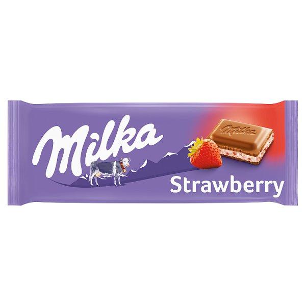 Milka Czekolada mleczna truskawkowa 100 g