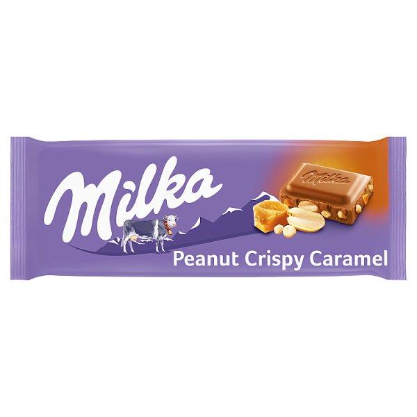 Milka Czekolada mleczna chrupiący orzeszek ziemny i karmel 90 g