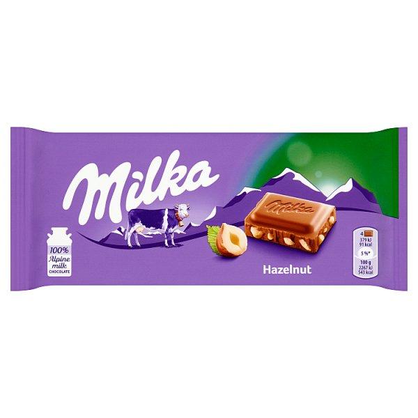 Milka Czekolada mleczna z kawałkami orzechów 100 g