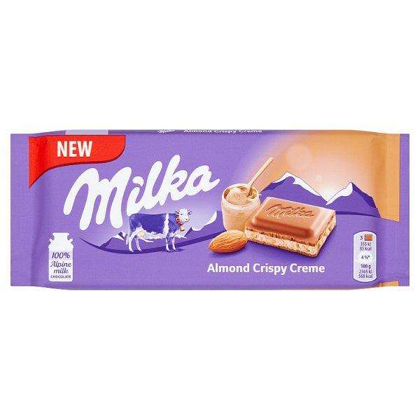 Milka Czekolada mleczna z chrupiącym nadzieniem migdałowym 90 g