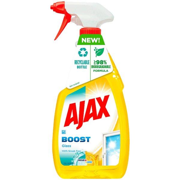 Ajax Boost Ocet i Cytryna Płyn do szyb, okien i powierzchni szklanych z amoniakiem 500 ml