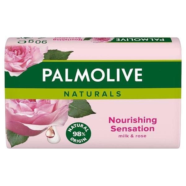 Palmolive Naturals Nourishing Sensation Mleko i Róża Mydło w kostce 90 g