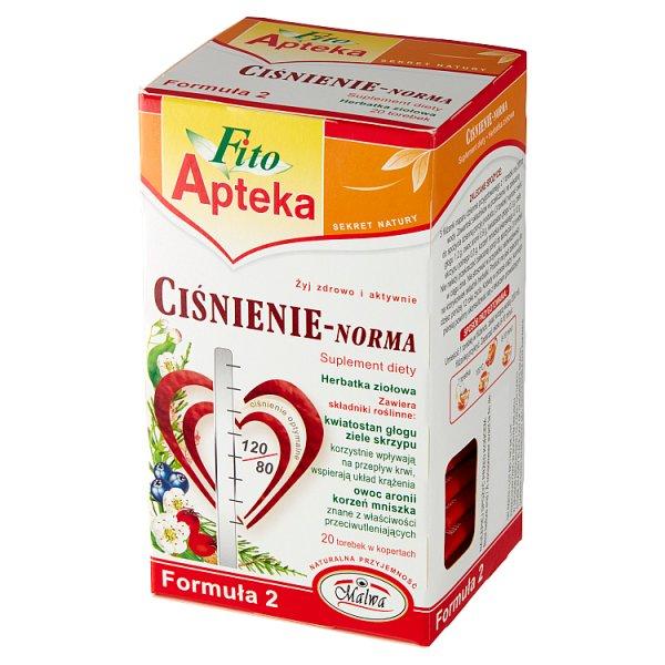 Fito Apteka Suplement diety herbatka ziołowa ciśnienie-norma 40 g (20 x 2 g)