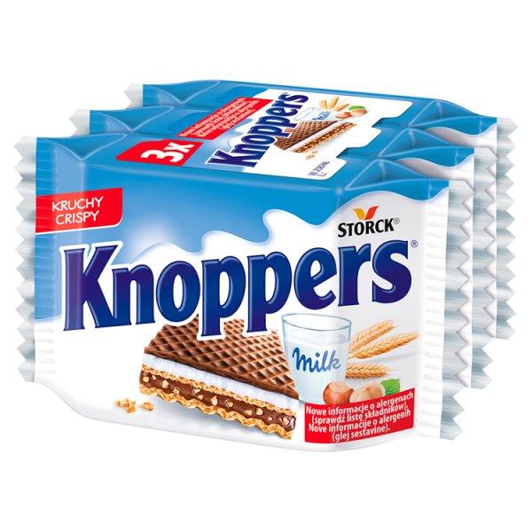 Knoppers Wafelek mleczno-orzechowy 75 g (3 x 25 g)