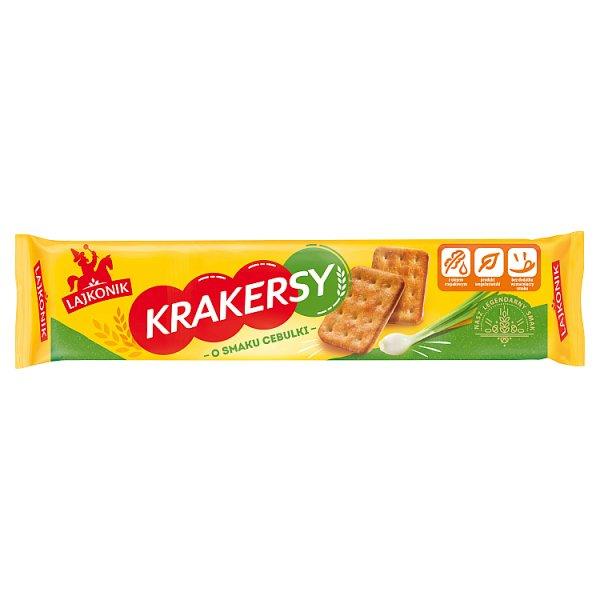 Lajkonik Krakersy o smaku cebulki 180 g