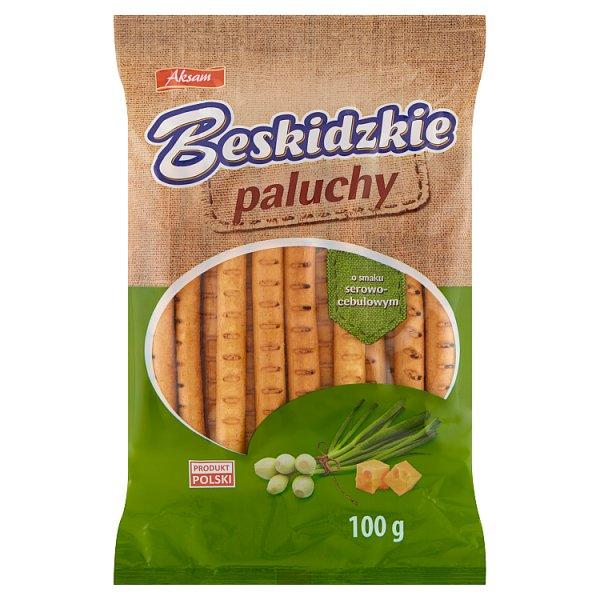 Aksam Beskidzkie Paluchy o smaku serowo-cebulowym 100 g
