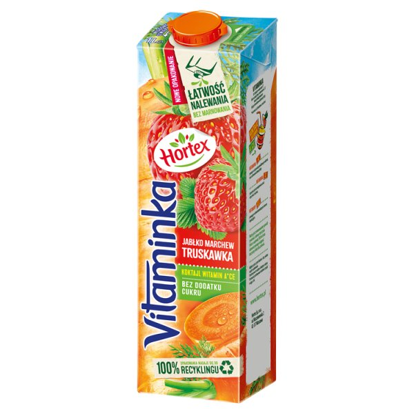 Hortex Vitaminka Sok jabłko marchew truskawka 1 l