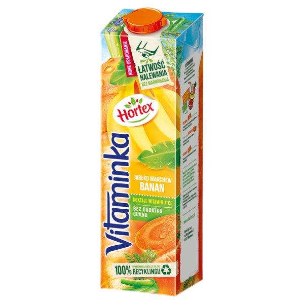Hortex Vitaminka Sok jabłko marchew banan 1 l