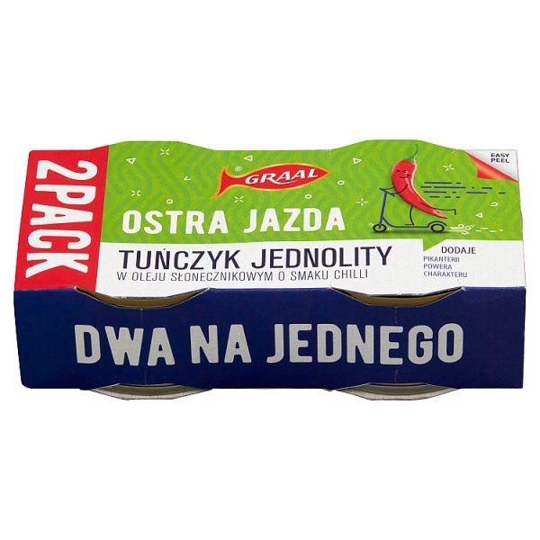 Graal Ostra Jazda Tuńczyk jednolity w oleju słonecznikowym o smaku chilli 160 g (2 x 80 g)