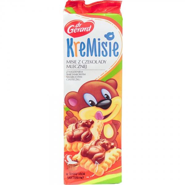 dr Gerard KreMisie Herbatniki z kremem śmietankowym i czekoladą mleczną 175 g