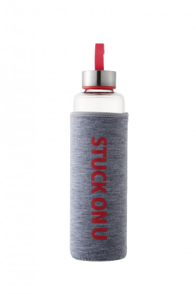 Butelka żaroodporna szklana różowa 530ml