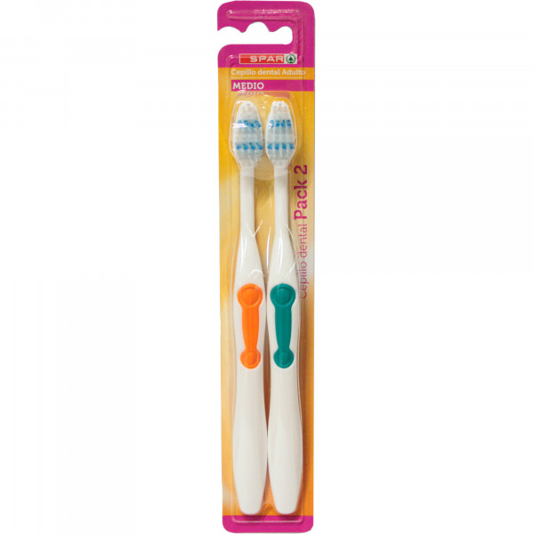 Spar szczoteczka do zębów z elastyczną rączką średnia 2szt