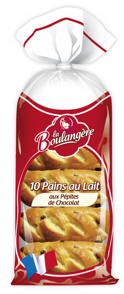Bułeczki la boulangere mleczne z kawałkami czek.10szt